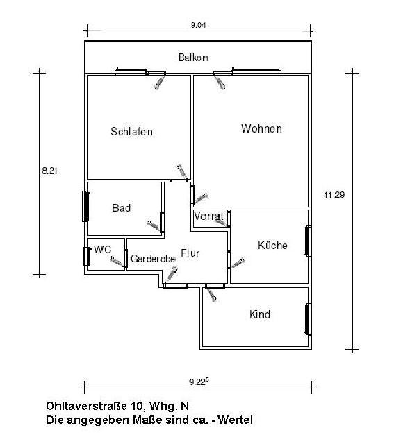 wohnung leer zentral ohlthaverstr studenten. Black Bedroom Furniture Sets. Home Design Ideas